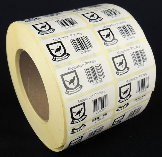 Picture of 50mm x 25mm Printed Paper Labels