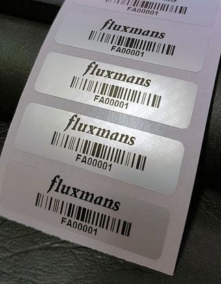 Picture of 45mm x 15mm Printed Asset Barcode Label