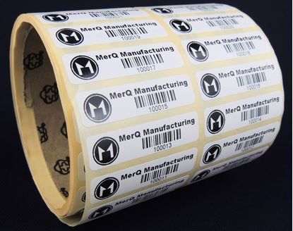 Picture of 47mm x 12mm Printed Paper Labels